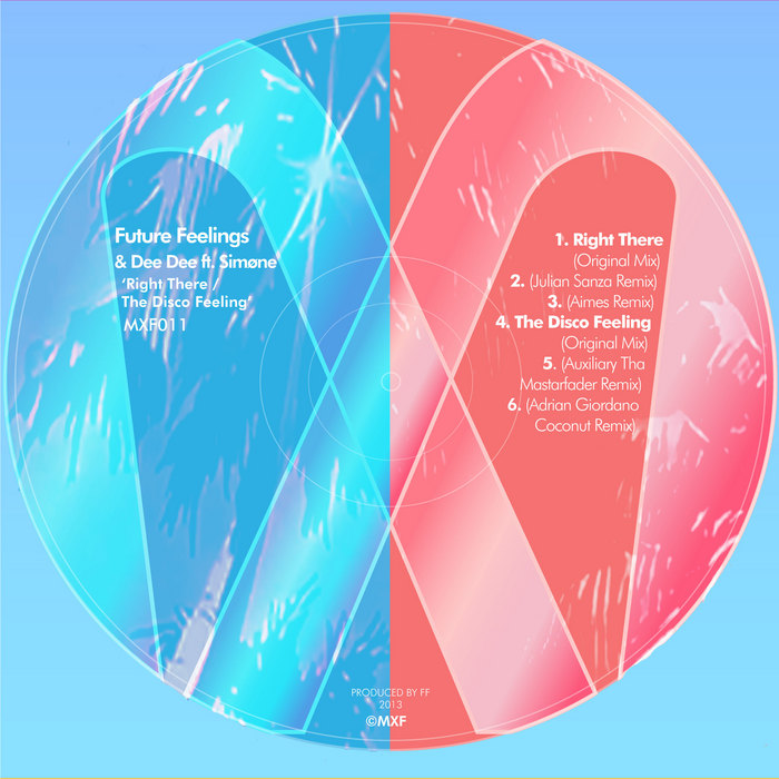 Future Feelings - Right There / The Disco Feeling EP [Mix Le Fun MXF 011] (20 November, 2013)