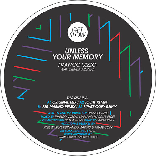 Franco Vizzo feat. Brenda Alonso - Unless Your Memory [Get Slow GSR005] (18-12-2013)