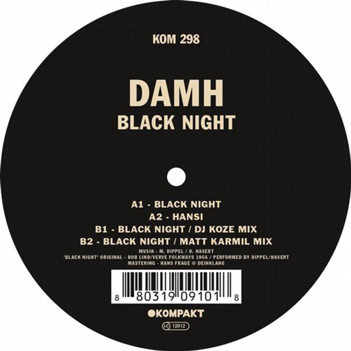 DAMH - Black Night [Kompakt KOM298] (2014-04-28)