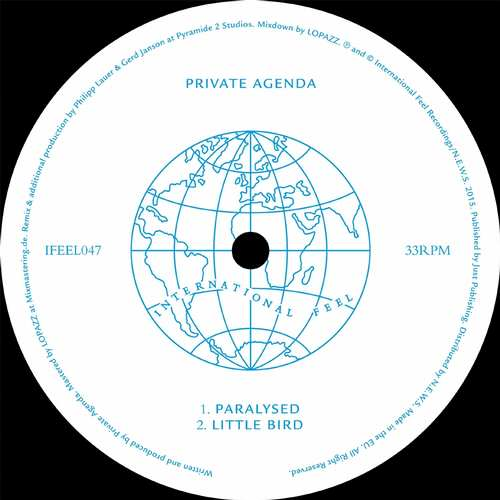 Private Agenda - Paralysed EP [International Feel Recordings IFEEL047] (18 September, 2015)